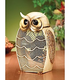 Deco Breeze Snow Owl Figurine Fan