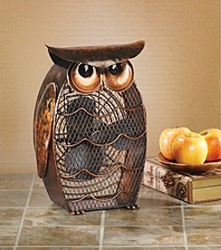 Deco Breeze Owl Figurine Fan