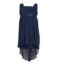 Bonnie Jean Girls' 7-16 High-Low Eyelash Dress