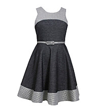 Bonnie Jean® Girls' 7-16 Sleeveless Knit Dress With Quilted Detail