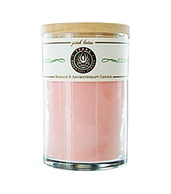 Terra Essential Scents® Pink Lotus Massage and Aromatherapy Soy Candle Tumbler