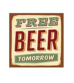 Thirstystone® Occasions Set of Four Free Beer Tomorrow Drink Coasters