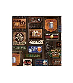 Thirstystone® Occasions Set of Four Game Room Round Drink Coasters