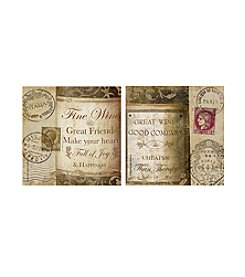 Thirstystone® Occasions Set of Four European Wine Quotes Drink Coasters