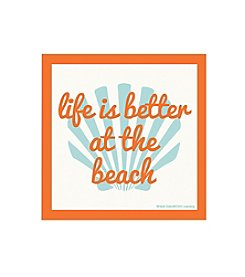 Thirstystone® Occasions Set of Four Life is Better at the Beach Drink Coasters