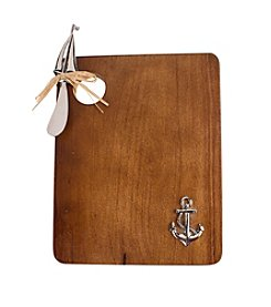 Thirstystone® Anchor and Sailboat Wood Serving Board and Spreader Set
