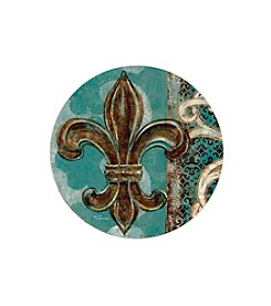 Thirstystone® Set of Four Teal Fleur de Lis Drink Coasters
