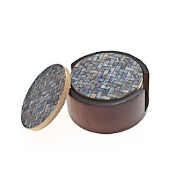 Thirstystone® Set of Four Herringbone Drink Coasters with Holder