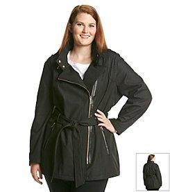 MICHAEL Michael Kors® Plus Size Short Belted Embossed Softshell
