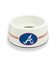 Atlanta Braves GameWear™ Classic Baseball Pet Bowl