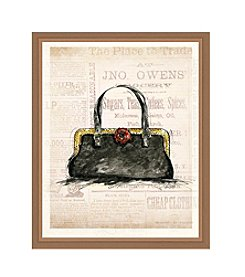 Greenleaf Art Black Purse Framed Canvas Art