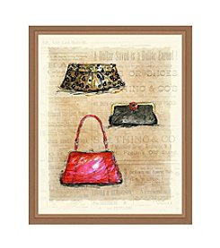 Greenleaf Art Three Purses Framed Canvas Art