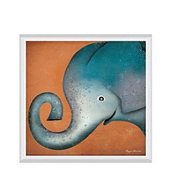 Greenleaf Art Elephant WOW Framed Canvas Art