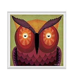 Greenleaf Art Owl WOW Framed Canvas Art