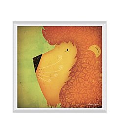 Greenleaf Art Lion WOW Framed Canvas Art
