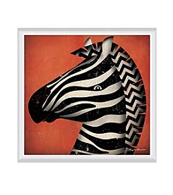 Greenleaf Art Zebra WOW Framed Canvas Art