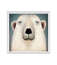 Greenleaf Art Polar Bear WOW Framed Canvas Art