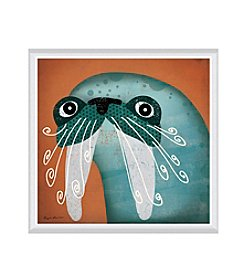 Greenleaf Art Walrus WOW Framed Canvas Art