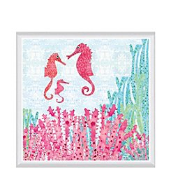 Greenleaf Art Seahorses Framed Canvas Art