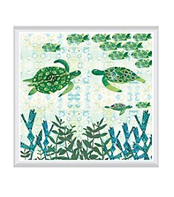 Greenleaf Art Turtles Framed Canvas Art