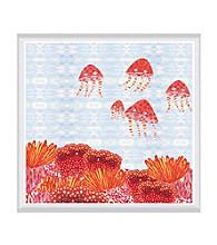 Greenleaf Art Orange Jelly Fish Framed Canvas Art