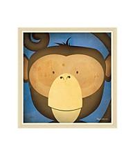 Greenleaf Art Monkey WOW Framed Canvas Art