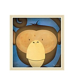 Greenleaf Art Monkey WOW Framed Canvas Art