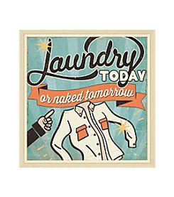 Greenleaf Art Laundry Today Framed Canvas Art
