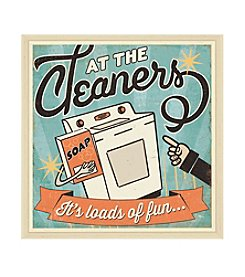 Greenleaf Art At The Cleaners II Framed Canvas Art