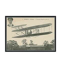 Greenleaf Art Wright Brothers Biplane Framed Canvas Art