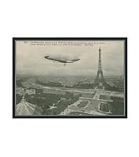Greenleaf Art Eiffel Tower Postcard Framed Canvas Art