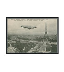 Greenleaf Art Eiffel Tower Postcard Framed Canvas Art