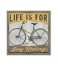 Greenleaf Art Life is For Joy Riding Framed Canvas Art