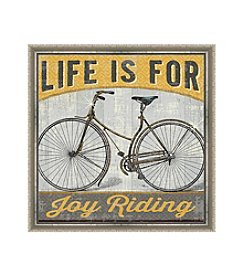 Greenleaf Art Life is For Joy Riding Framed Canvas Art