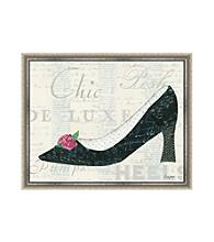 Greenleaf Art Black Heel with Flower Framed Canvas Art