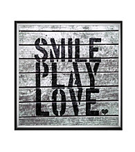 Greenleaf Art Smile Play Love Framed Canvas Art