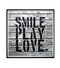 Greenleaf Art Smile Play Love Framed Canvas Art