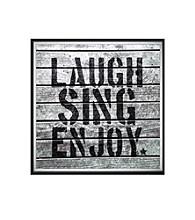 Greenleaf Art Laugh Sing Enjoy Framed Canvas Art