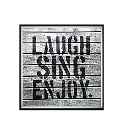 Greenleaf Art Laugh Sing Enjoy Framed Canvas Art