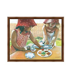 Greenleaf Art The Tea Party Framed Canvas Art