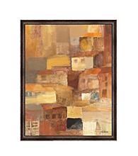 Greenleaf Art Abstract Tuscan Village Framed Canvas Art