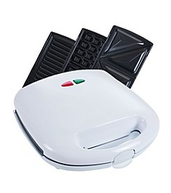Chef Buddy 3-in-1 Sandwich Panini Press and Waffle Maker Iron