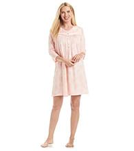 Aria® Short Knit Gown - Peach Floral