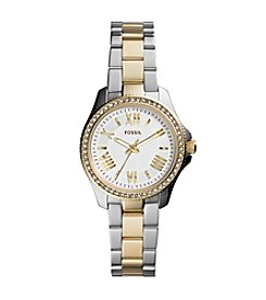 Fossil® Women's Mini Cecile Two-Tone Stainless Steel Bracelet Watch