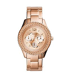 Fossil® Women's Stella Rose Goldtone Stainless Steel Bracelet Watch with Tonal Dial