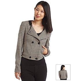 Anne Klein® Glen Plaid Jacket