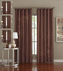 Loft Style® Marseilles Chocolate Reversible Floral Window Panels