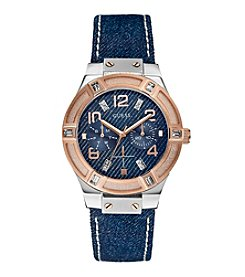 GUESS Denim Standout Style and Sparkle Watch