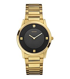 GUESS Goldtone Clean Lined Dress Watch