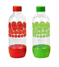 SodaStream Set of 2 Red & Green 1-Liter Carbonating Bottles